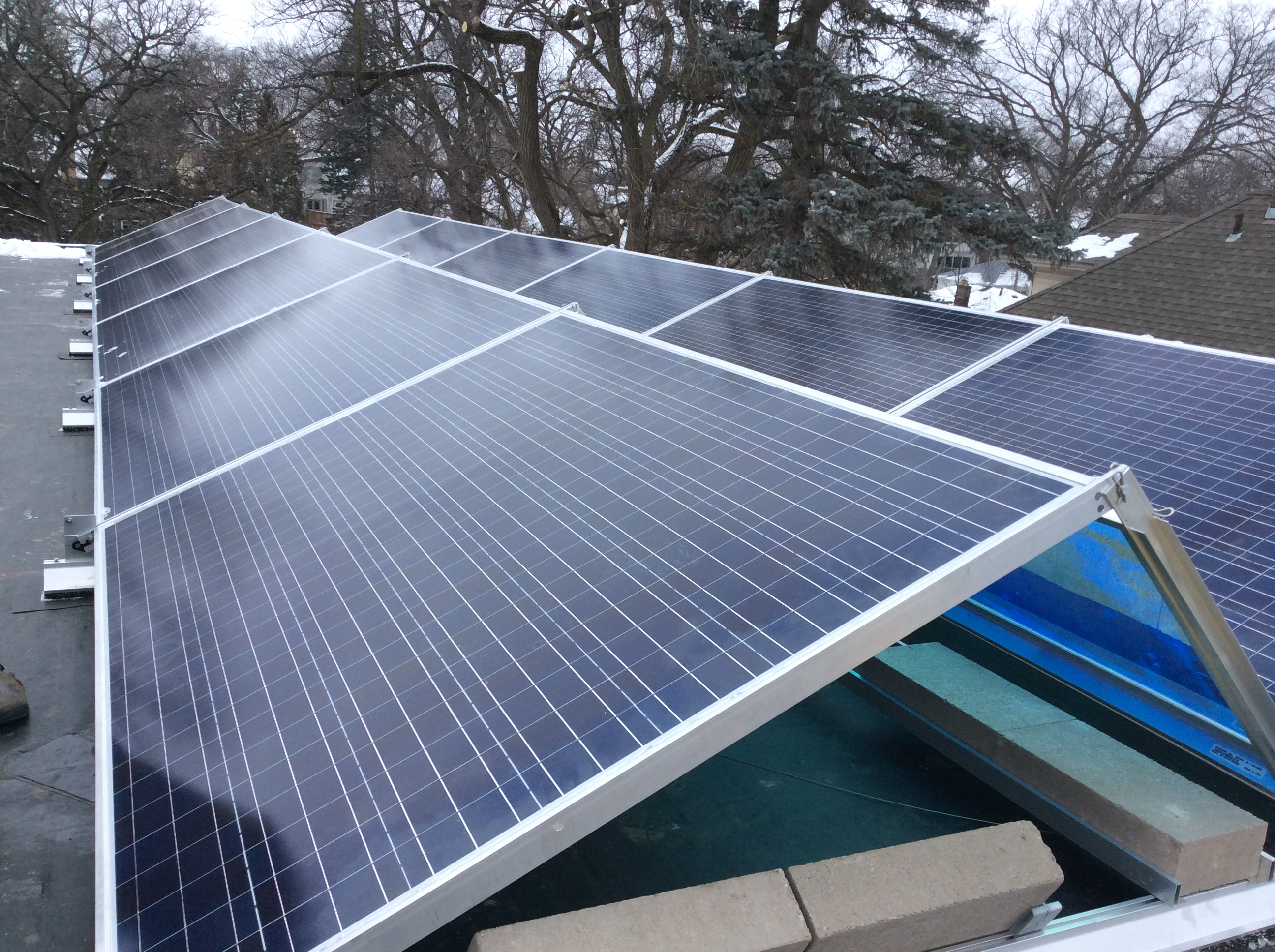 Minneapolis 4 92 Kw Flat Roof Residential Installation